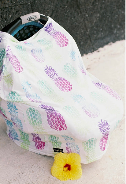 SAMPLE SALE/MISPRINT - Multi Purpose Nursing Cover - Gypsy Pineapple