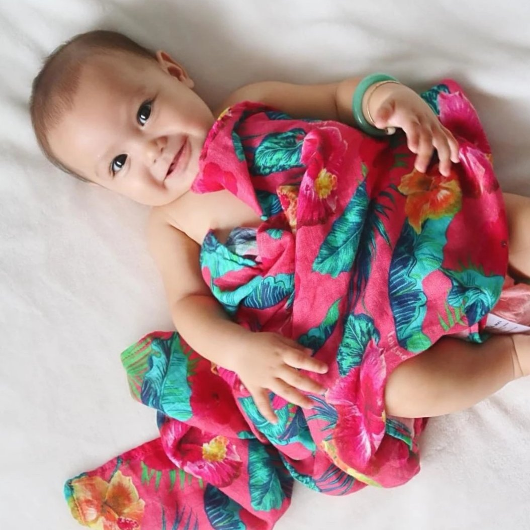 Flower Power Ultra Soft Bamboo Swaddle