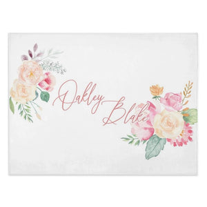 Soft Floral - Personalized Minky