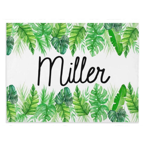 Palm Border- Personalized Minky