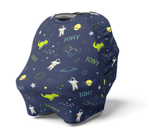 Space Dinos- Personalized Multi Use Nursing Cover