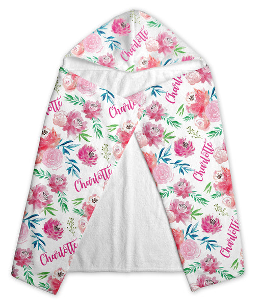 Full Bloom - Personalized Hooded Baby Towel