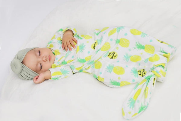 Knotted Infant Gown - Sweet Pineapple