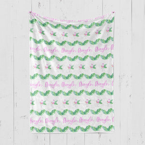 Flamingos- Personalized Minky