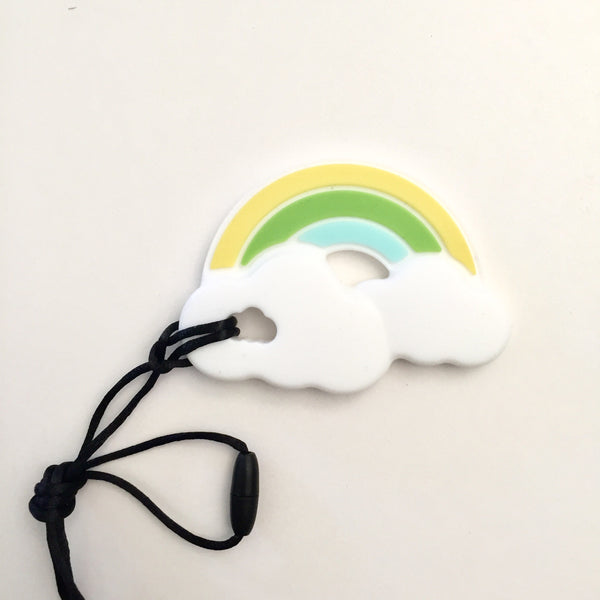 Rainbow Cloud Pacifier Clip Teething Accessory