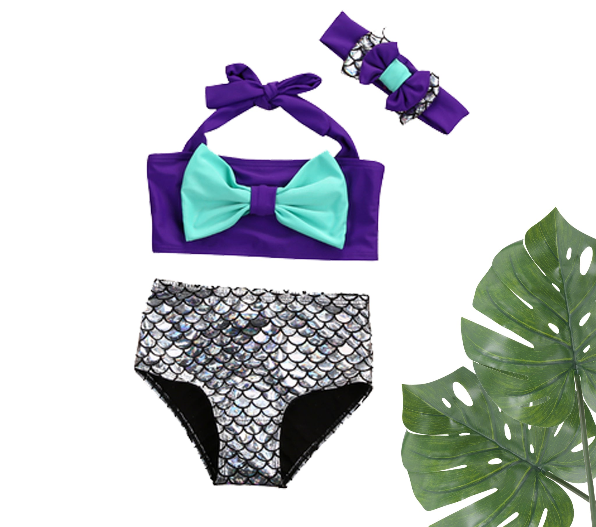 SALE: Mermaid Bikini & Headband Set