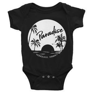 Paradise Found, Solid White - Infant Bodysuit