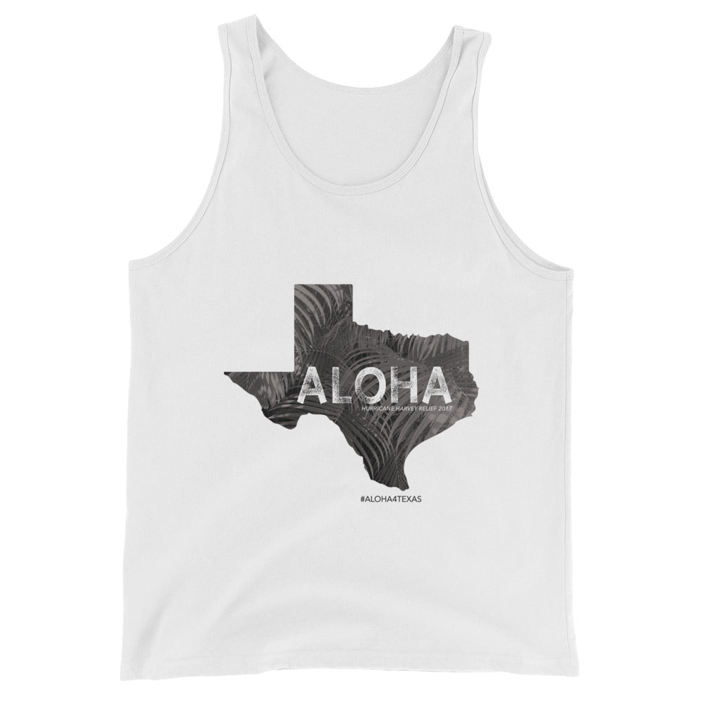 B E N E F I T COLLECTION: #ALOHA4TEXAS Unisex Canvas Jersey Tank Top