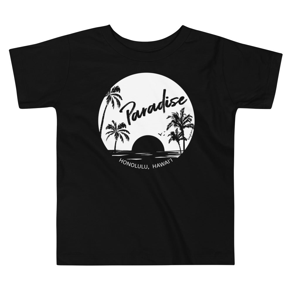 Paradise Found, Solid White - Toddler Short Sleeve Tee