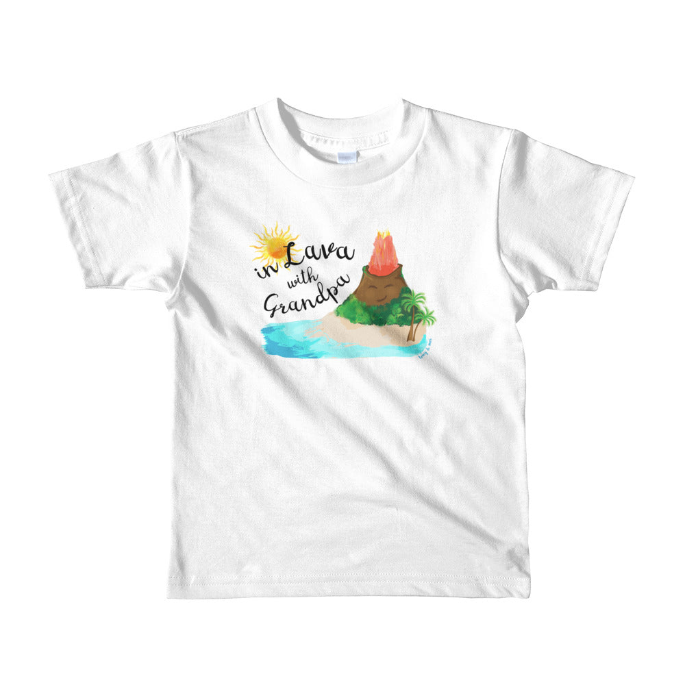 In Lava with Grandpa- Short sleeve kids t-shirt