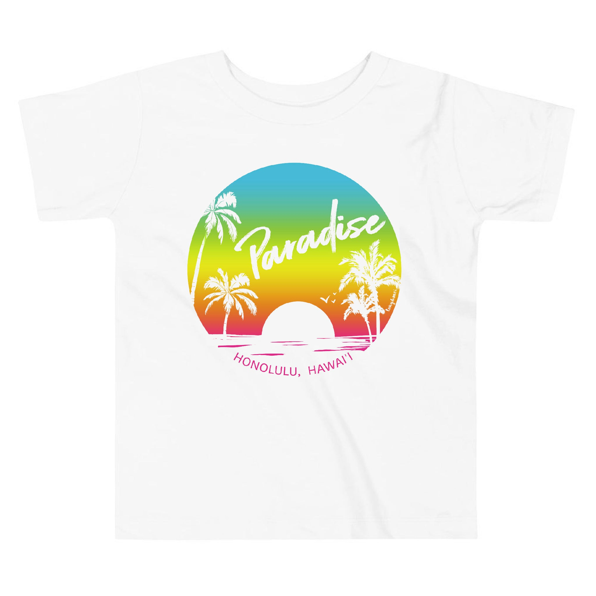 Paradise Found, Sunset - Toddler Short Sleeve Tee