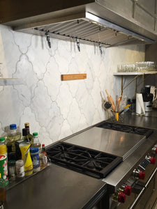 Knife Strip on Tile Backsplash at Soak & Simmer