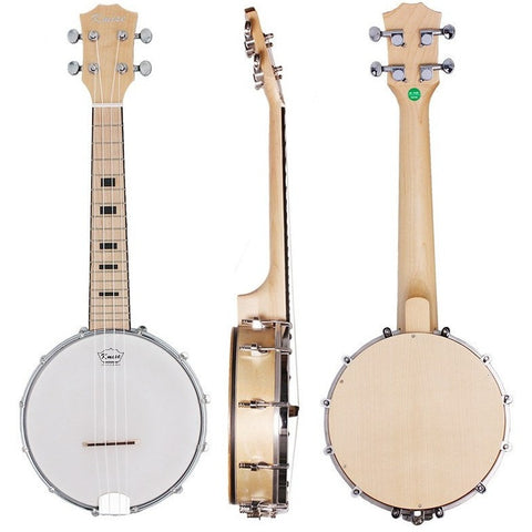 Banjo Ukulele 4-string 23-inch Maple Wood