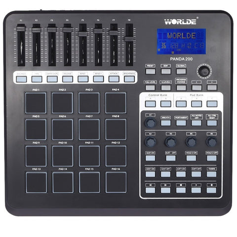 Portable MIDI Controller with 16 Drum Pads