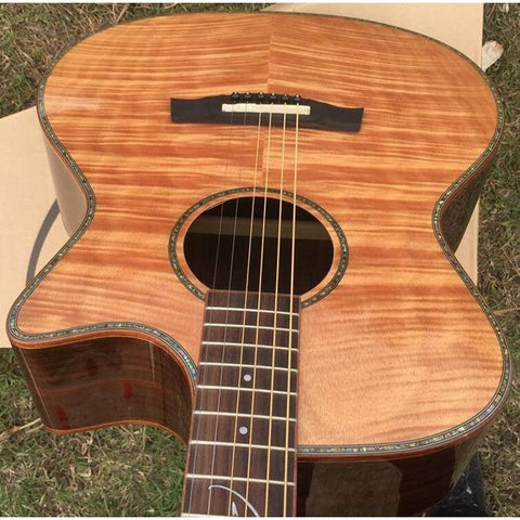 "41"" Maple Flame Electric Acoustic Guitar"