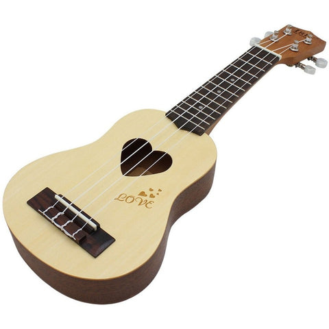 Heart Shape Ukulele 17""