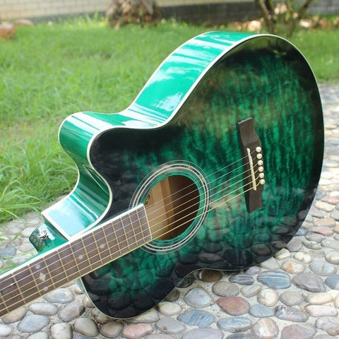 "40"" Green Marble Acoustic Guitar"