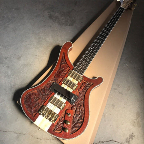 Carved 4 String Bass Guitar