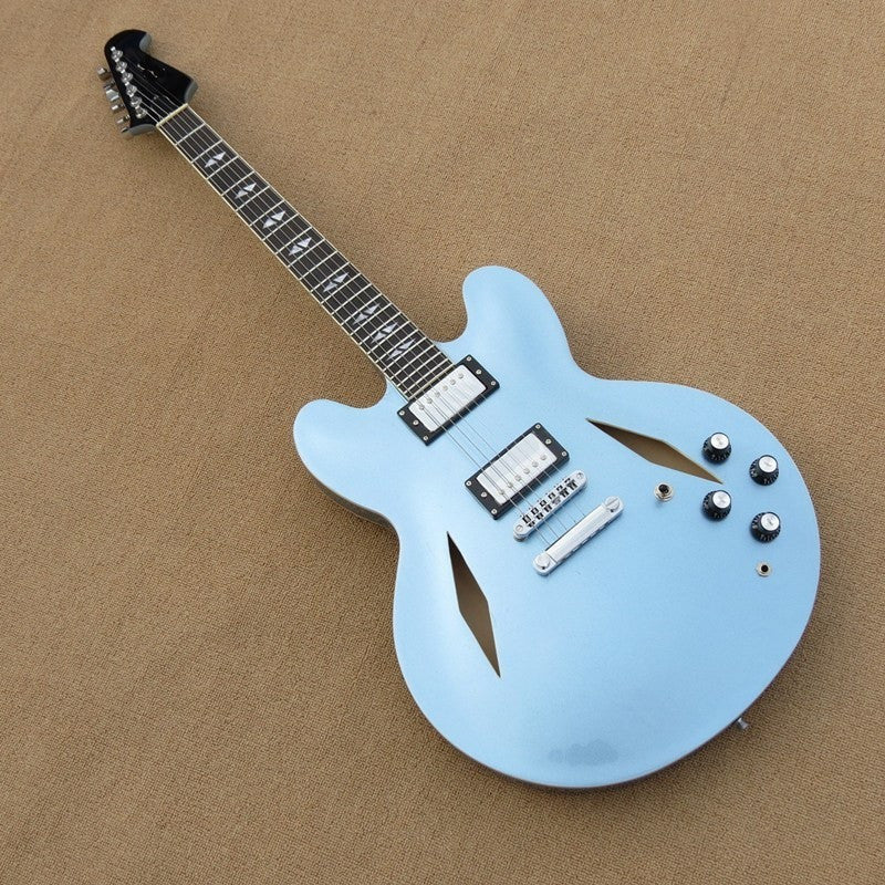 Baby Blue Hollow Body Electric Guitar