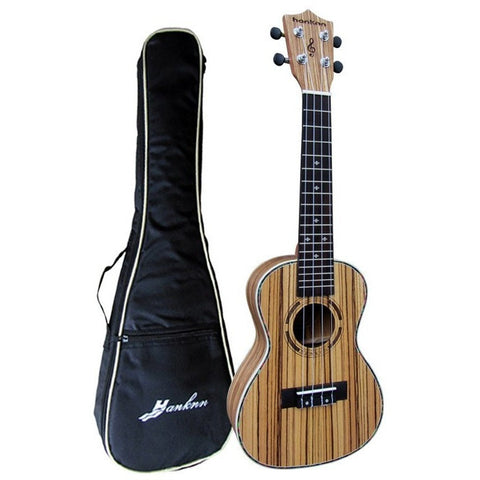 "23"" Zebrawood Concert Ukulele with Bag"