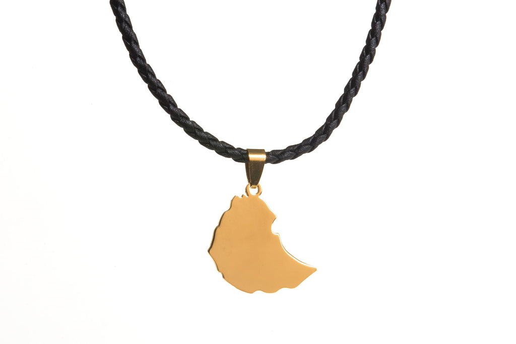 Ethiopia Map Necklace