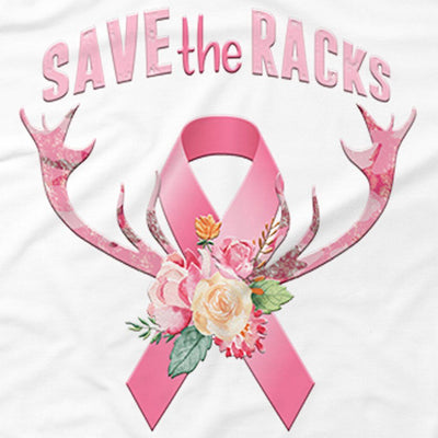AWARENESS - SAVE THE RACKS CANCER SUPPORT TSHIRT OR HOODIE
