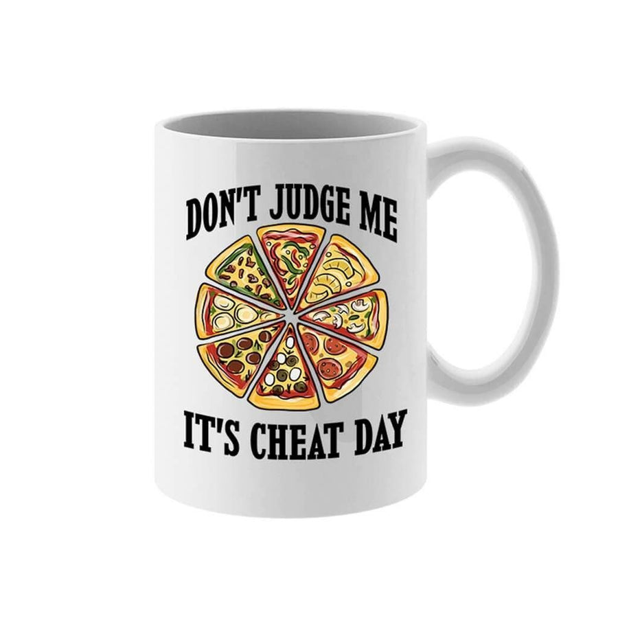COFFEE MUG - DON'T JUDGE ME FUNNY CHEAT DAY COFFEE MUG