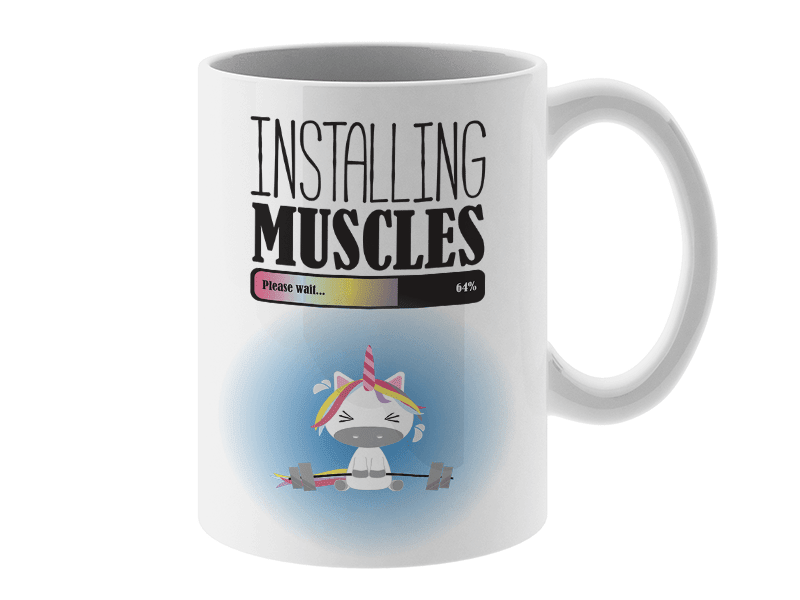 COFFEE MUG - INSTALLING MUSCLES COFFEE MUG