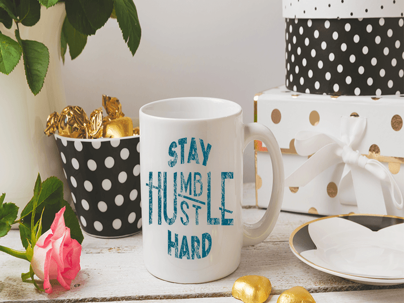 COFFEE MUG - STAY HUMBLE COFFEE MUG