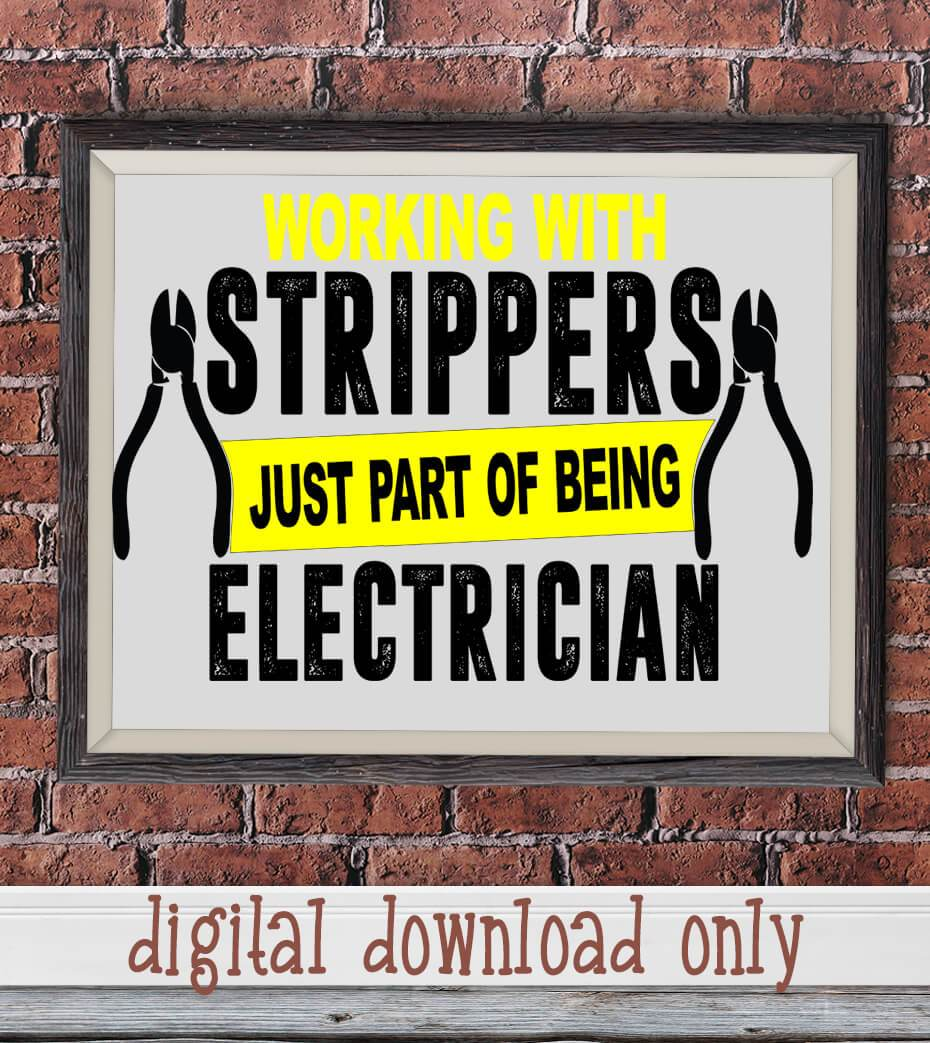FUNNY ELECTRICIAN DIGITAL DESIGN DOWNLOAD