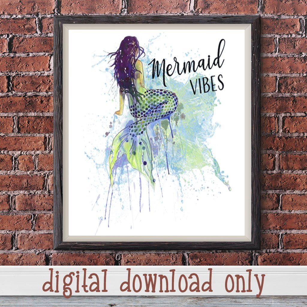 MERMAID VIBES DIGITAL DESIGN DOWNLOAD