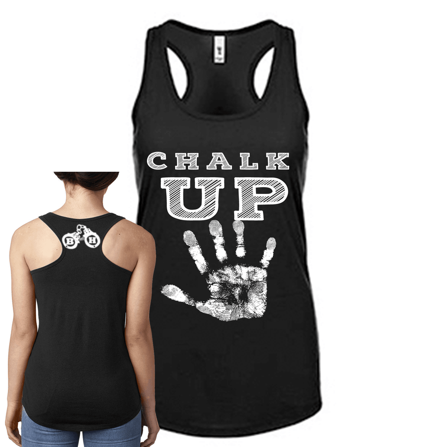 Fitted Racerback Tank - CHALK UP FITTED RACERBACK TANK TOP