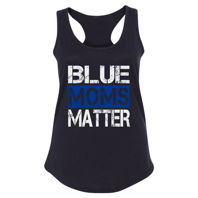 Fitted Racerback Tank - CUSTOMIZABLE BLUE WIVES/MOMS MATTER FITTED RACERBACK TANK TOP
