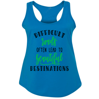 Fitted Racerback Tank - DIFFICULT ROADS  FITTED RACERBACK TANK TOP