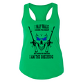 I AM THE SHEEPDOG FITTED RACERBACK TANK TOP