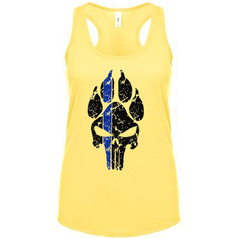 K9 PUNISHER PAW PRINT POLICE FITTED RACERBACK TANK TOP