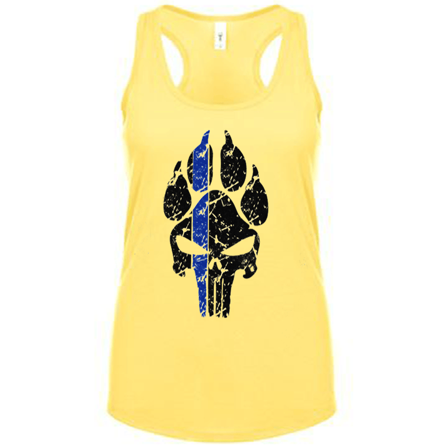 Fitted Racerback Tank - K9 PUNISHER POLICE FITTED RACERBACK TANK TOP