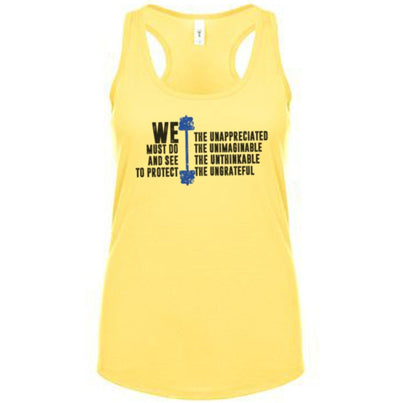 Fitted Racerback Tank - WE THE UNAPPRECIATED FITTED RACERBACK TANK TOP