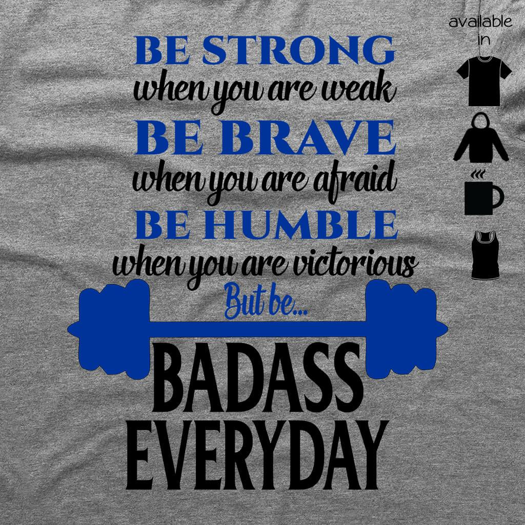 d41cc3be3cf94 BE STRONG - BE BADASS FLOWY RACERBACK TANK TOP - Barbells and Handcuffs