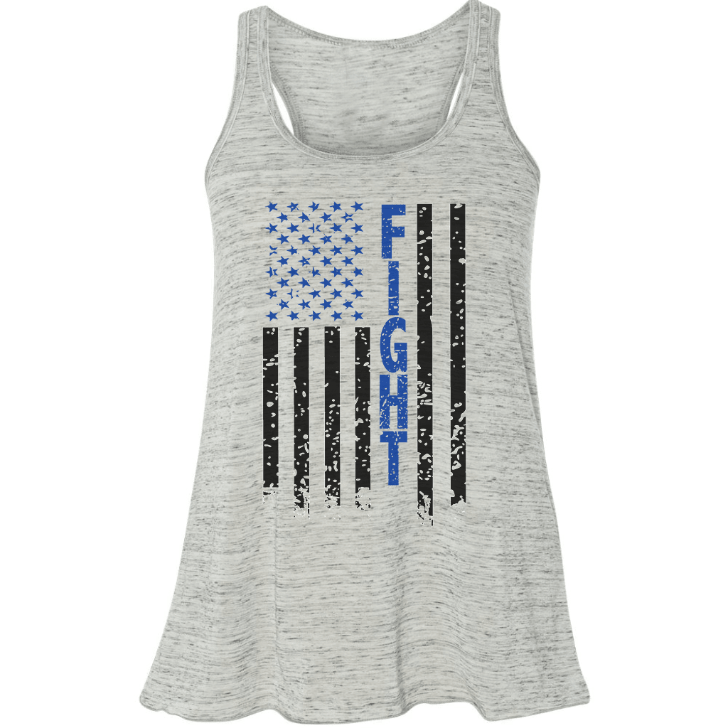 FLOWY RACERBACK TANK - FIGHT FLAG FLOWY RACERBACK TOP
