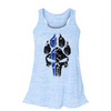 FLOWY RACERBACK TANK - K9 PUNISHER LADIES FLOWY RACERBACK TANK TOP