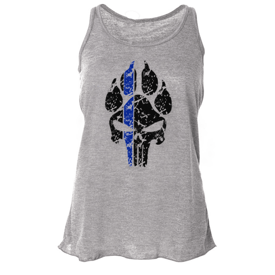 K9 PUNISHER LADIES FLOWY RACERBACK TANK TOP
