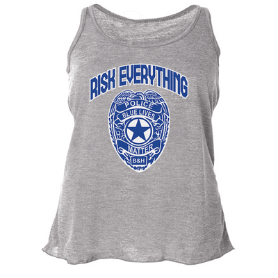 FLOWY RACERBACK TANK - RISK EVERYTHING FLOWY RACERBACK TANK TOP