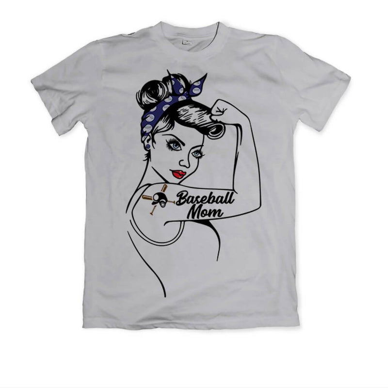 "BASEBALL MOM ""GIRL POWER"" GRAPHIC SHIRT"