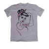 "GIRL POWER - BREAST CANCER-CANCER SUPPORT ""GIRL POWER"" GRAPHIC SHIRT"