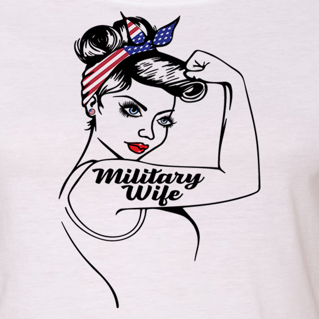 "MILITARY WIFE VETERAN TRIBUTE ""GIRL POWER"" GRAPHIC SHIRT"