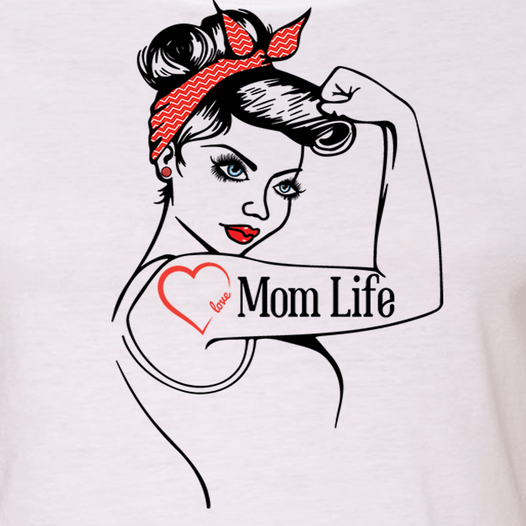 "MOM LIFE ""GIRL POWER"" GRAPHIC SHIRT"