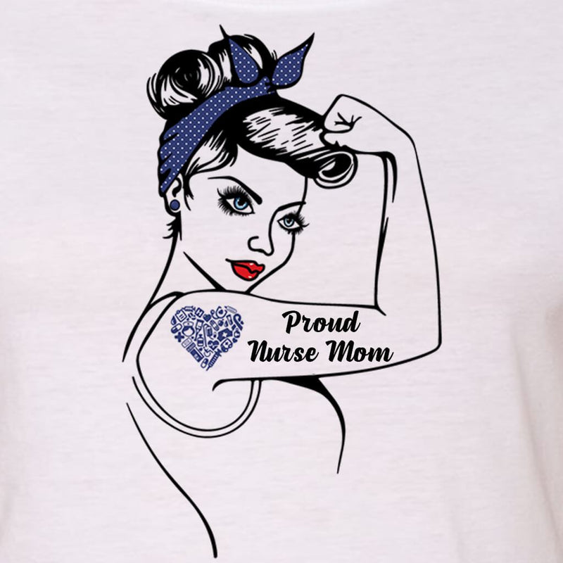 "NURSE LIFE - NURSE MOM - NURSE WIFE ""GIRL POWER"" GRAPHIC SHIRT"
