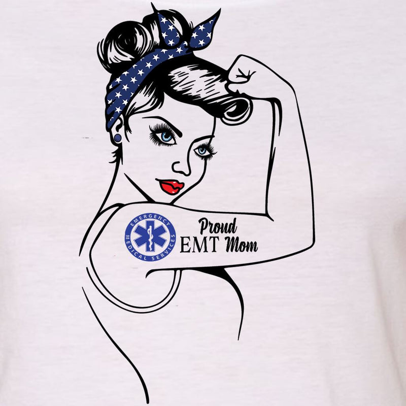 "PROUD EMT - EMT MOM - EMT WIFE ""GIRL POWER"" GRAPHIC SHIRT"
