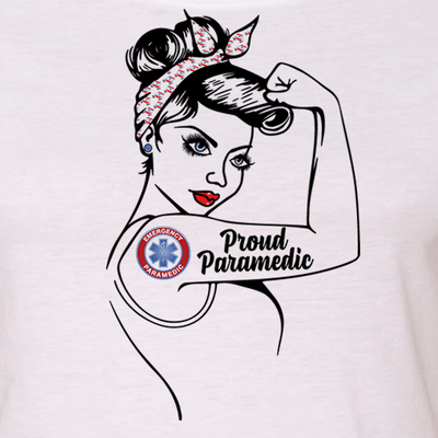 "GIRL POWER - PROUD PARAMEDIC - PARAMEDIC MOM - PARAMEDIC WIFE ""GIRL POWER"" GRAPHIC SHIRT"